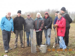 The working party at the Memorial Orchard