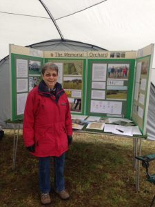Tina Johnson with our display board.
