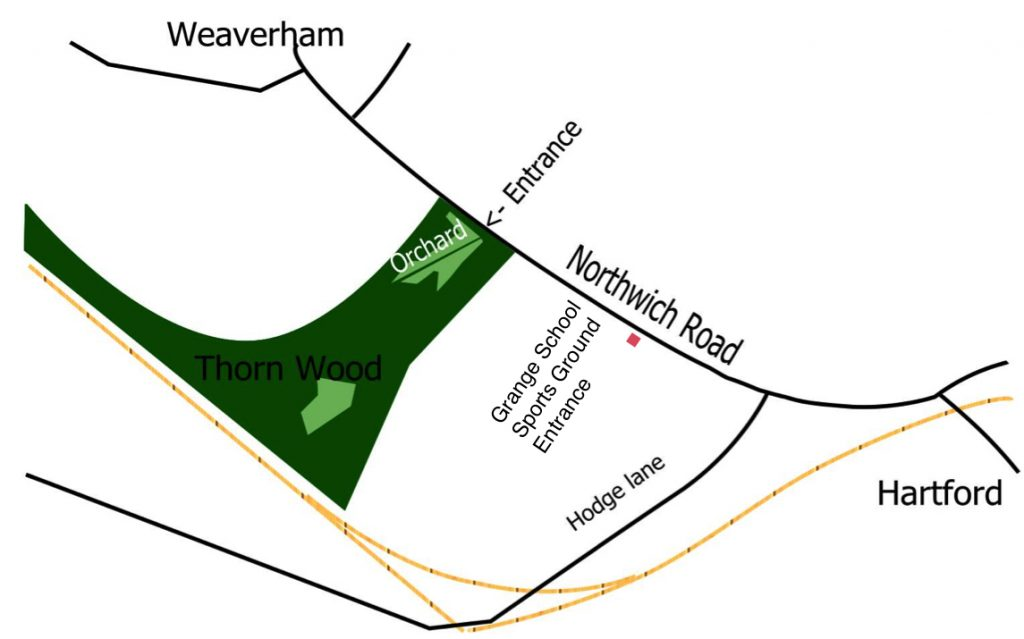 Map showing Sports Ground