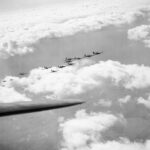 Hurricanes flying in Big Wing formation.
