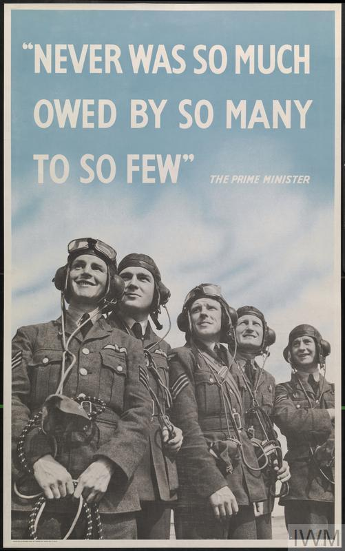 Poster: Never was so much owed by so many to so few.